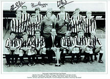 NEWCASTLE Multi SQUAD Signed Autograph 16x12 1969 Fairs Cup Photo AFTAL COA