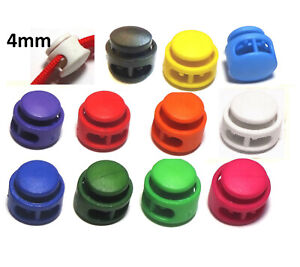 2x Cord lock 4mm toggle stopper clamp drawstring buckle button catch UK
