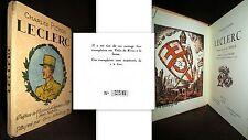 LECLERC Pichon Nohain dessin Guy ARNOUX Guerre War WW2 EO 1948 numéroté 500 ex.
