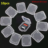 10x Transparent Standard SD SDHC Memory Card Case Holder Storage Boxes Plastic