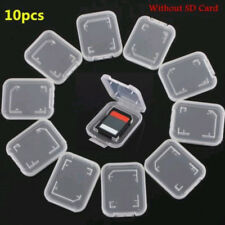 10PCS Transparent Standard SD SDHC Memory Card Case Holder Storage Box Plastic