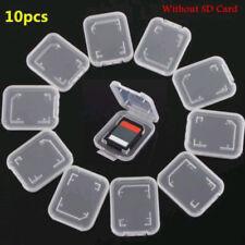 10x Transparent Standard SD SDHC Memory Card Case Holder Storage Boxes Plastic