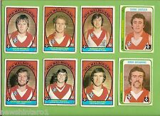 #D230. EIGHT  OLD SCANLENS  SOUTH MELBOURNE  VFL CARDS