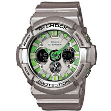 Casio G-Shock GA-200SH-8A Silver Green Men's Digital Analog Sports Watch