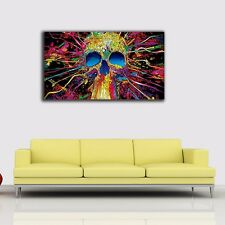 50×90×3cm Graffiti Skull Canvas Prints Framed Wall Art Home Decor Gift Painting