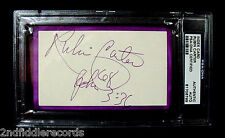 RUBIN HURRICANE CARTER-Rare Fully Signed Index Card-PSA DNA Encapsulated-Boxer