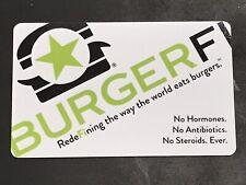 BURGERFI HAMBURGER JOINT GIFT CARD. NO VALUE, For Collecting.
