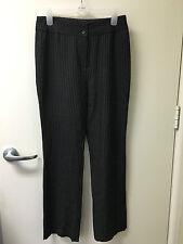iRoo Moderato Milano Black w/ White Pin Stripe Dress Pants Sz 38