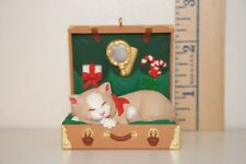 Hallmark Ornament - Cat Naps - Suitcase - 1997