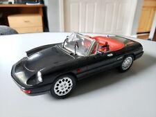 Alfa Romeo Spider Convertible Black 1:18 Jouef Evolution Die Cast
