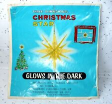 "VINTAGE CHRISTMAS 3-D GLOWS IN THE DARK 11 1/2""PLASTIC STAR CHADWICK MILLER H.K."