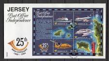 FDC D56 Jersey 1994 Block CV 7.50 eur Ship Plane Independence