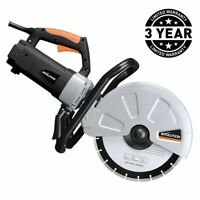 Concrete Saw 12 in. Corded Portable 15 Amp Electric Cutter Brick Stone Paving