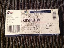 KASABIAN USED GIG TICKET NOTTINGHAM ICE ARENA 02/12/2011 FREE POST IN UK BUY NOW