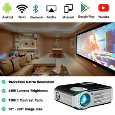 1080P Full HD Wifi Projector Home Theater Wireless Projector Android Bluetooth