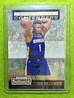 ZION WILLIAMSON PRIZM CARD ROOKIE OF THE YEAR PELICANS 2019-20 Contenders INSERT