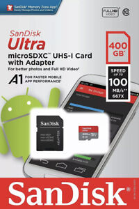 SanDisk Ultra microSDXC 400 GB UHS-I A1 100 MB/s Speicherkarte NEU