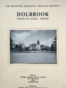 1952 particulars,& conditions of sale Holbrook, Cross-In-Hand, Sussex