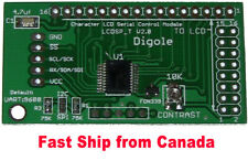 Universal Serial:UART/I2C/SPI Adapter for 1602/1604/2002/2004/4002 LCD in Canada