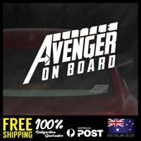 Little Avenger on Board 195x70mm Window Funny Decal Vinyl Sticker Baby Boy TYPE2