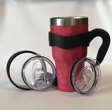 2 Handles & Replacement Lids for 30 oz Tumbler Travel Grip Cup Holder