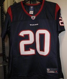 Reebok Women's Premier NFL Jersey Texans Steve Slaton Navy sz M