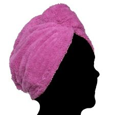 Pealu - 2x Fleece Head IN Purple, Fluffy Turban-Handtuch