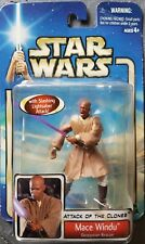 STAR WARS ATTACK OF THE CLONES MACE WINDU (GEONOSIAN RESCUE) MIB RARE