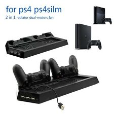 New Multi-functional Vertical Stand Cooling Fan Charger For Sony PS4 & PS4 Slim