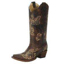 Womens Circle G Boots Corral Western Dragonfly Embroidery Distressed Brown L5001