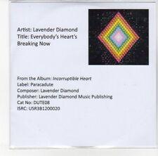 (DN33) Lavender Diamond, Everybody's Heart's Breaking Now - 2012 DJ CD