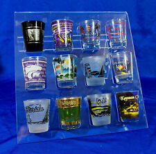 Shot Glass Collection Display Rack - Holds 12