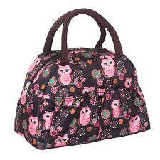 Owl pattern Lunch box bag lunch bags casual handbag small bag handbag