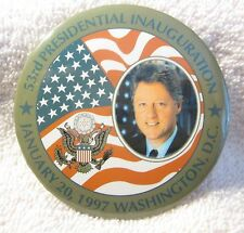 Bill Clinton Presidential Inauguration Pin - Clinton with US Flag