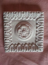 Square ornate rubber latex mould mold wall pediment embellishment ceiling plaque