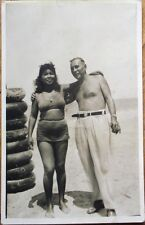 Chinese Woman in Cuba w/Man, 1947 Realphoto Pinup/Risque Postcard
