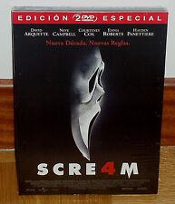 SCREAM 4 SCRE4M EDICION ESPECIAL 2 DVD NUEVO PRECINTADO TERROR (SIN ABRIR) R2
