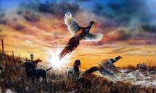 Jim Hansel Opening Day Pheasant Hunting Print 16 x 12