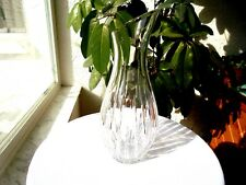 "Crystal Cut Lines 11 1/2"" Tall Open Carafe"