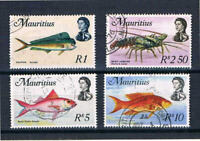 Mauritius 1969 QEII Fish Issue High Values - SC 353-356 [SG 396-399] Used 19