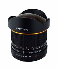 New Samyang 8mm F3.5 Fisheye Lens for Nikon AE with Automatic Chip and Case