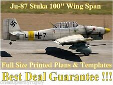 "Junkers JU-87 Stuka 100"" WS Giant Scale RC Airplane PRINTED Plans & Templates"