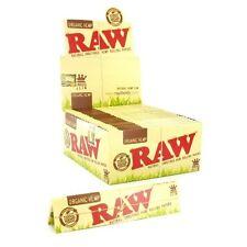 RAW King Size Slim Natural Unrefined Rolling Paper Organic Hemp * 8 Pack *