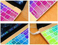 "Rainbow Silicone US layout Keyboard Skin Cover Film For Macbook Pro Air13""15""17"""