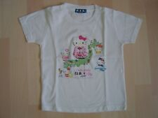 HELLO KITTY : T-SHIRT blanc du Japon fille 6 ans - BE -