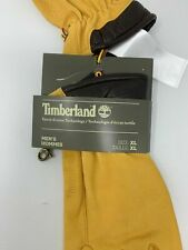 NEW Timberland Men's XL Leather Touch Screen Suede Gloves Tan
