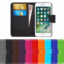 For Apple iPhone 6s 6 5 5C 6+ - Genuine Leather Magnetic Flip Wallet Case Cover