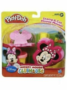 Disney Minnie Mouse Play-Doh Stamp & Cut Set Hasbro NEW