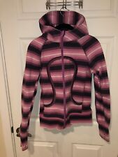 Lululemon Scuba Pink Ombre Striped Jacket in Size 4-EUC