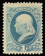 Scott #182, Franklin 1 cent,Ultramarine,Unused,No gum,Well centered,Very good